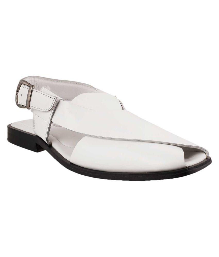 e039cd0882a4 Metro METRO Men WHITE LEATHER WHITE Sandals Price in India- Buy Metro METRO  Men WHITE LEATHER WHITE Sandals Online at Snapdeal