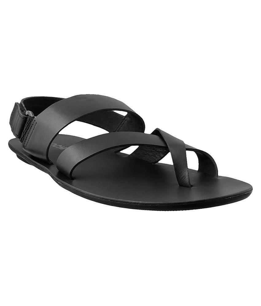 4204ab7e54d Mochi MOCHI Men BLACK LEATHER BLACK Sandals
