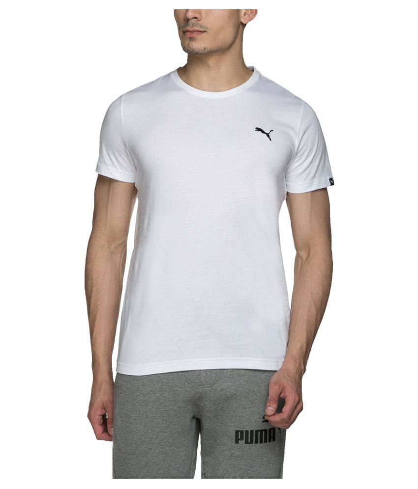 Puma White Cotton T-Shirt