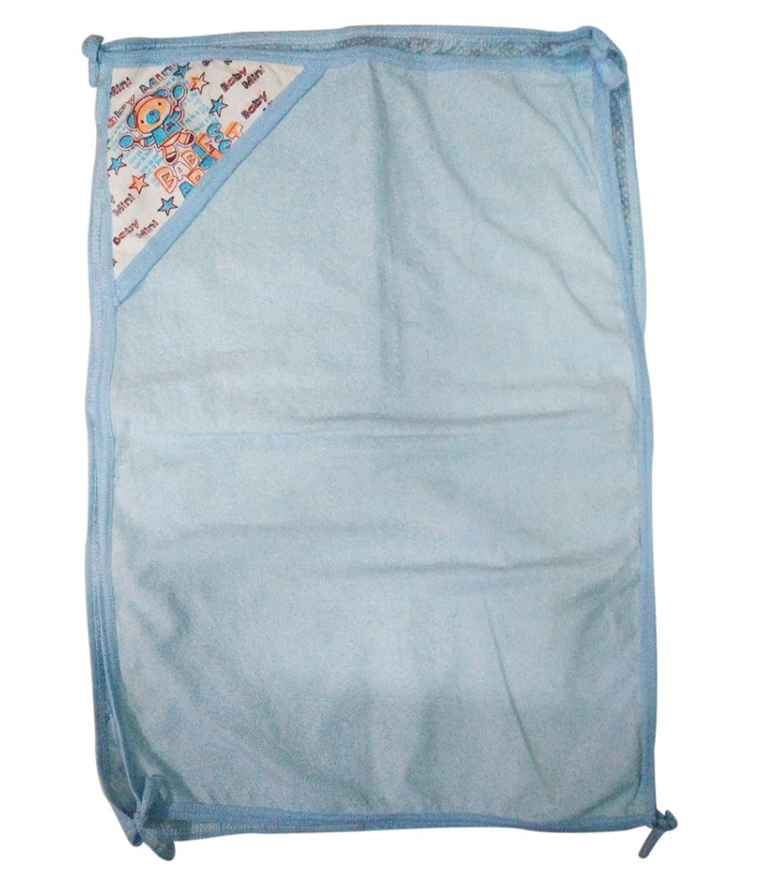 Gold Dust Blue Swaddle cloth Baby Wrap cum blanket ( 75 cm × 50 cm - 1 pcs)