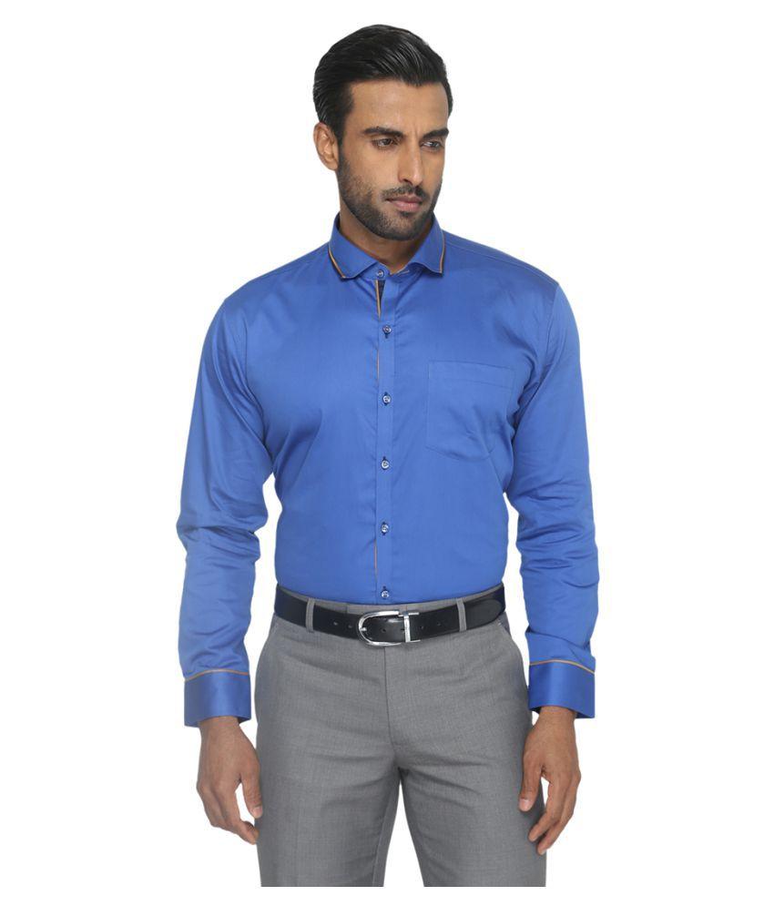 Greenfibre Blue Formal Slim Fit Shirt