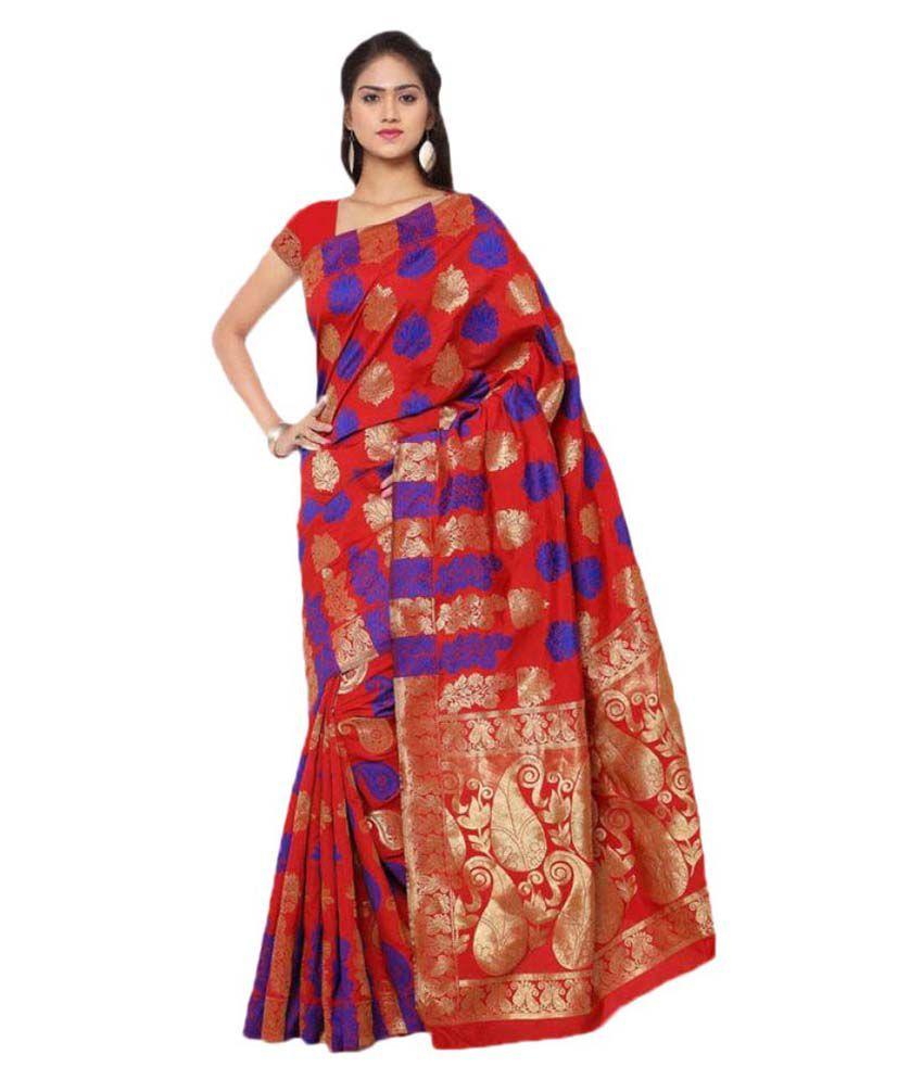 Makewayin Multicoloured Banarasi Silk Saree