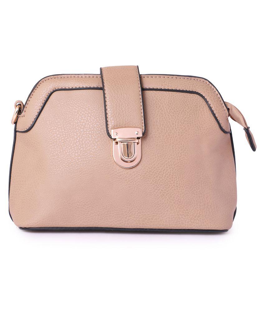 Zuska PeachPuff P.U. Sling Bag