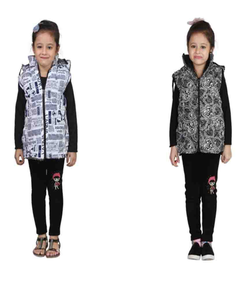 Crazies Combo of 2 Light Weight Jackets for Girls