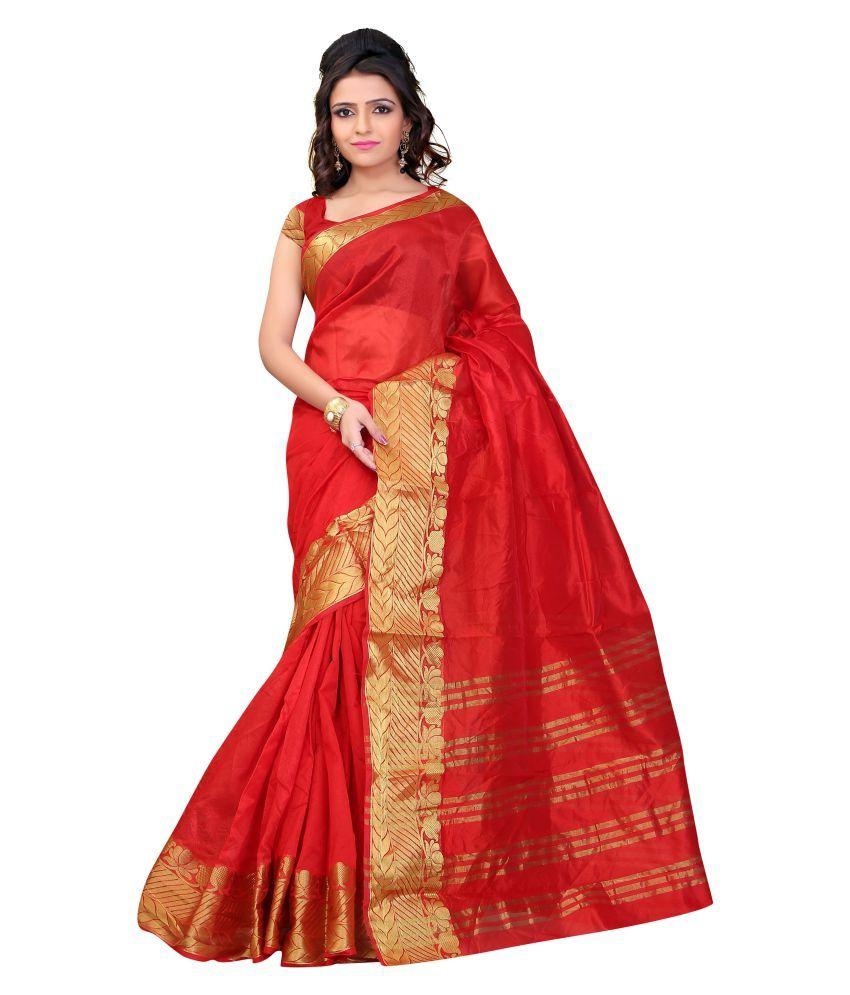 Ganga Shree Red Art Silk Saree