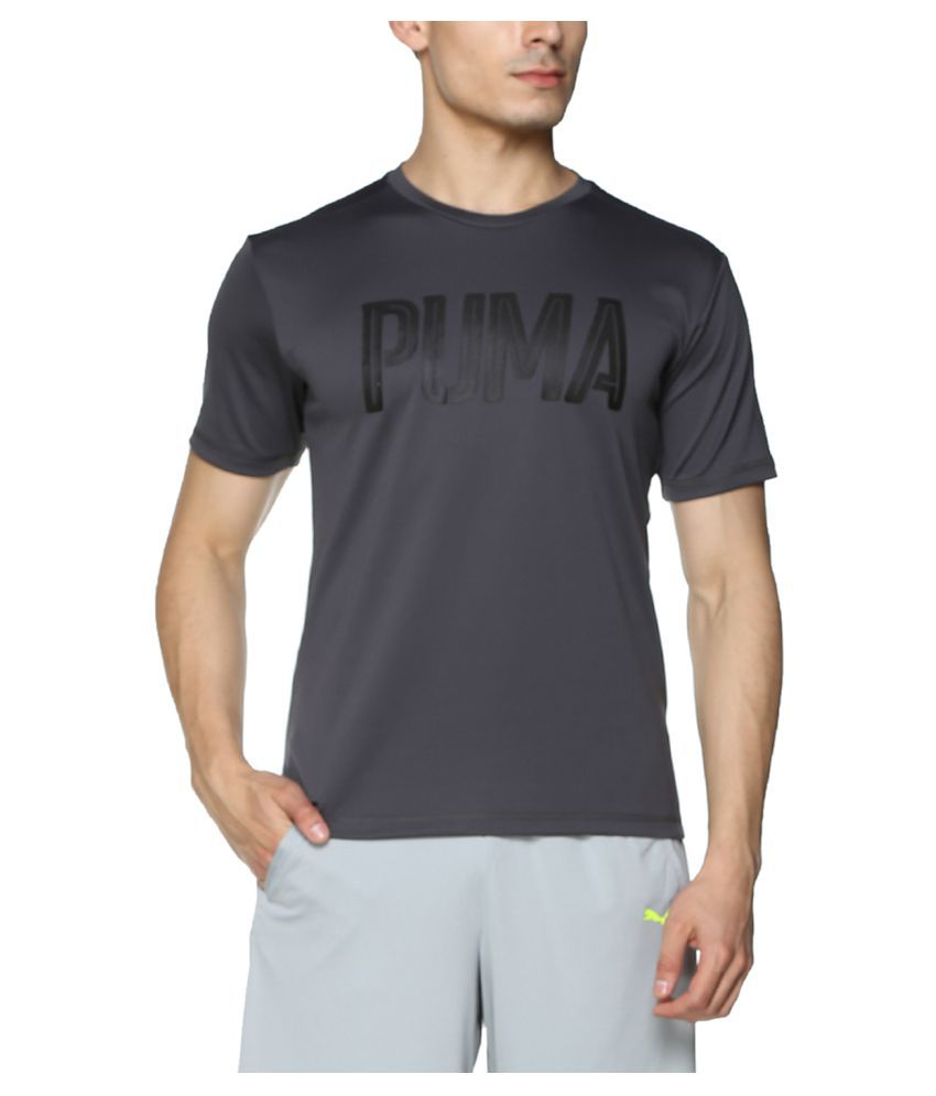Puma Grey Cotton T-Shirt