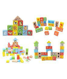 Krypton Multicolor 52 Pieces Wooden Colorful Learning Block