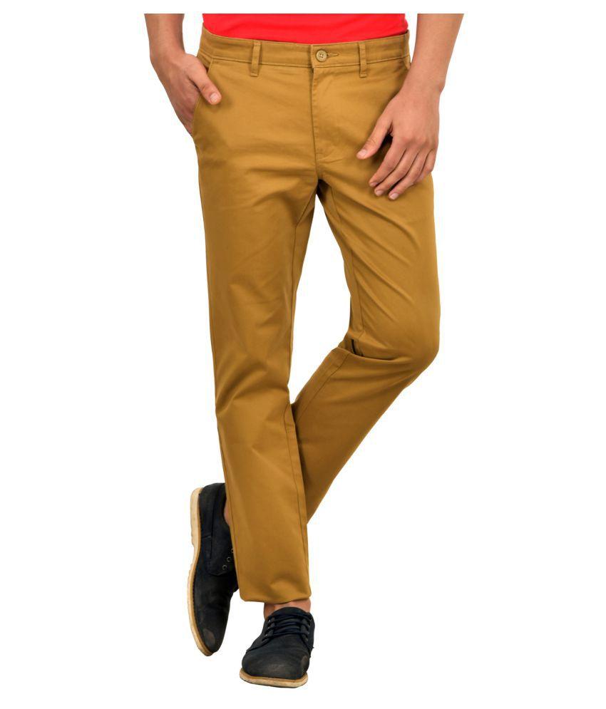 Blue Buddha Khaki Slim Flat Trousers