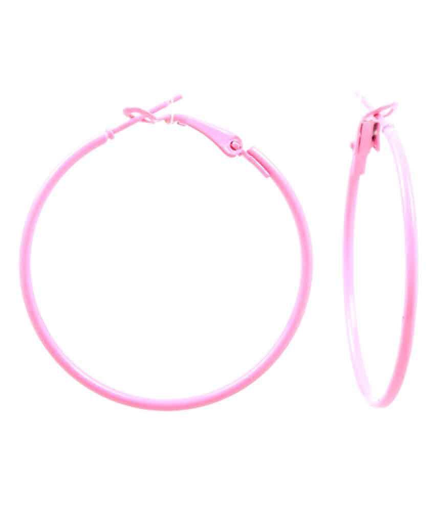GoldNera Pink Alloy Hoop Earring