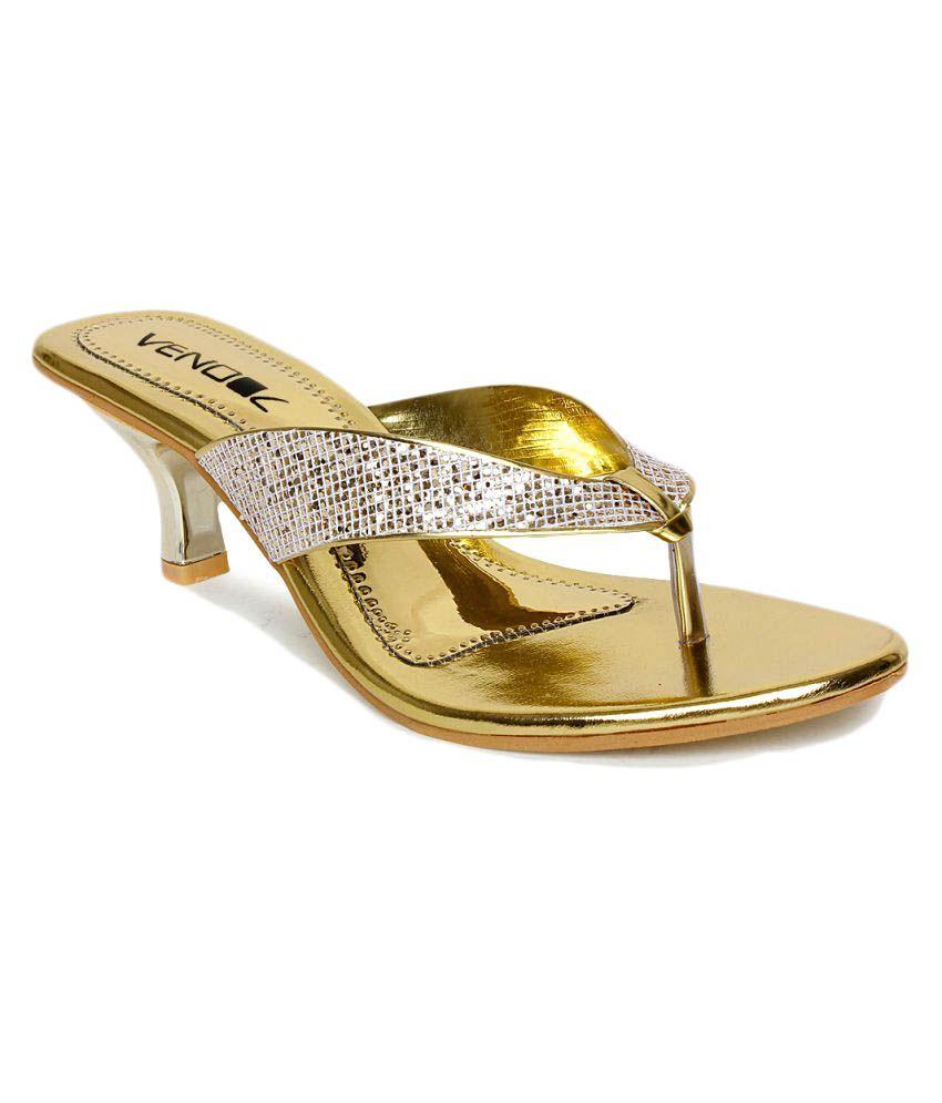 Vendoz Silver Kitten Heels