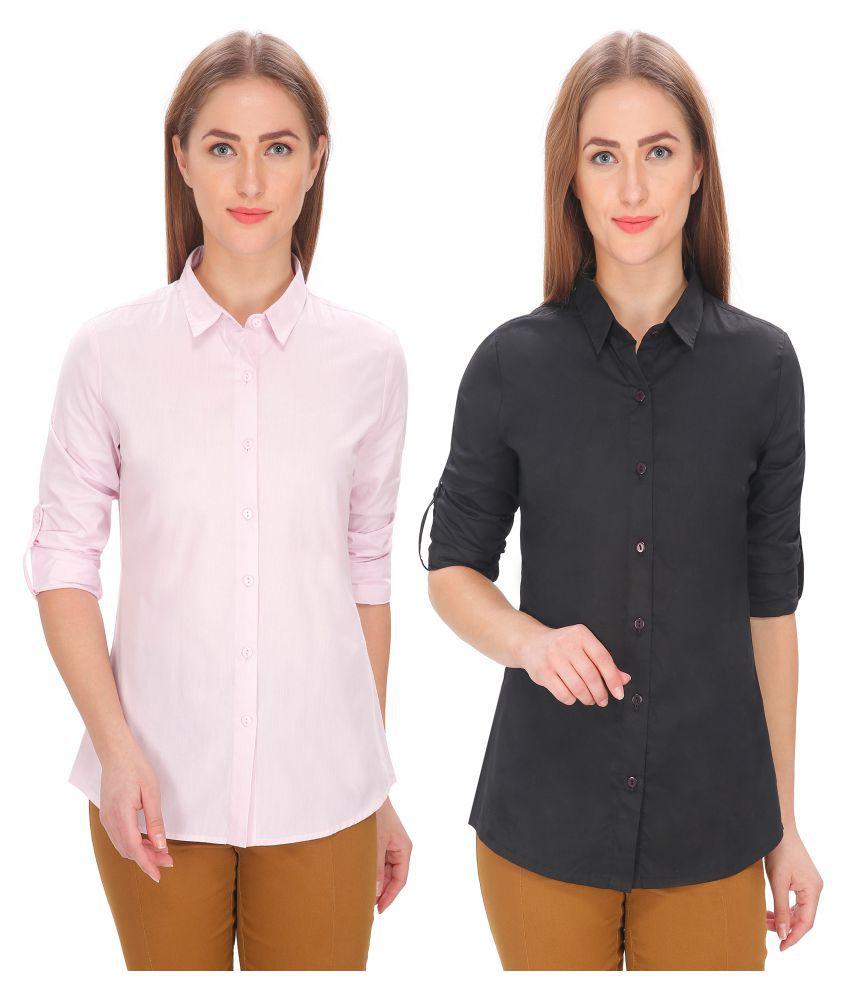 Leaf Shirt Cotton Blend Shirt