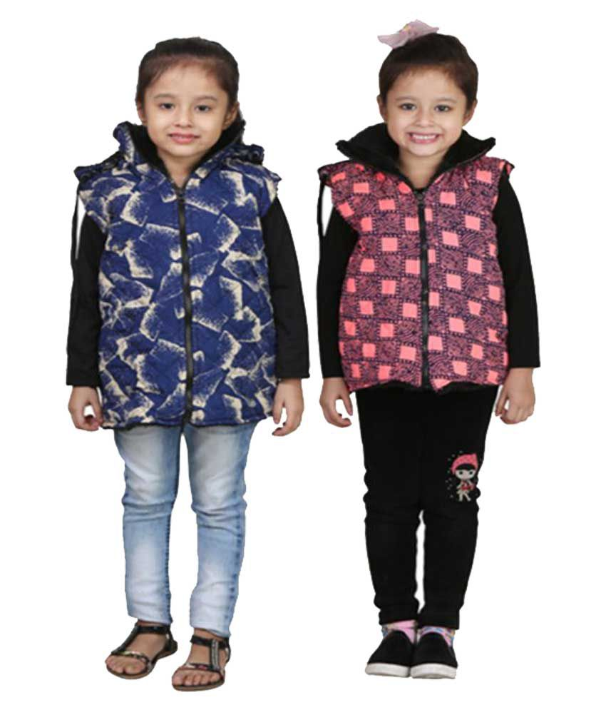 Qeboo Combo Of Half Jacket For Girl's