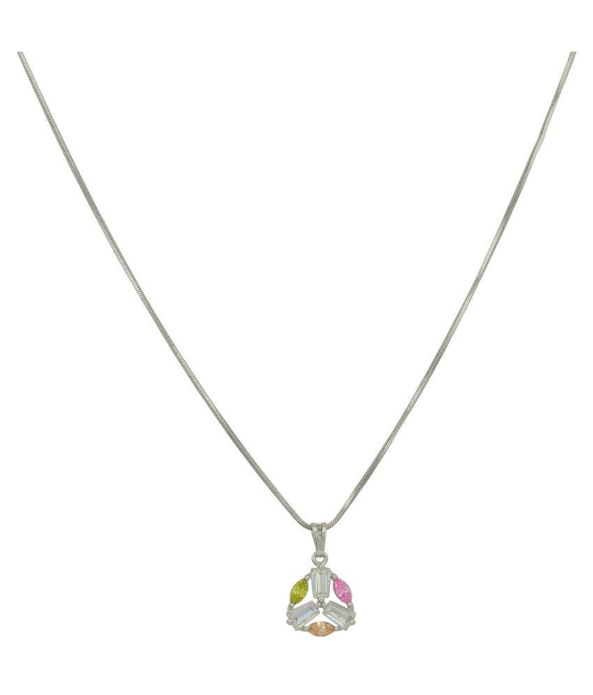 High Trendz Aura Silver Pendant With Chain