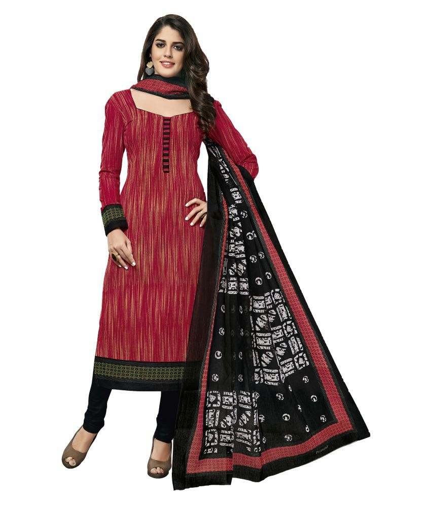 db6cb6211c4e Shree Ganesh Red and Maroon Cotton Dress Material - Buy Shree Ganesh Red and  Maroon Cotton Dress Material Online at Best Prices in India on Snapdeal