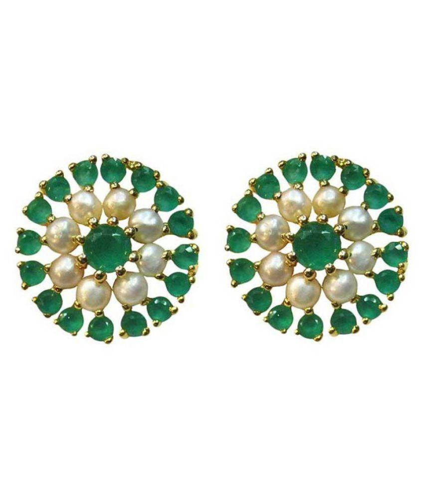 Vinayak Rajasthani Queen Pearl Onyx Earrings