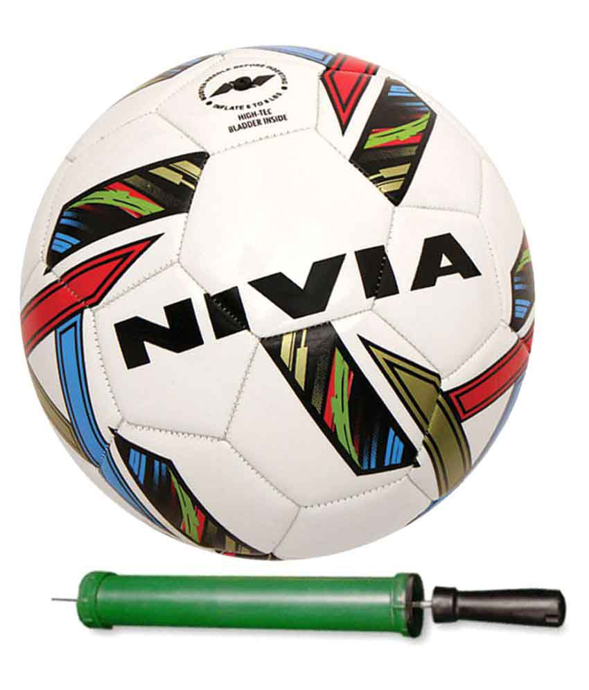 Nivia Revolvo Size-5 With Pump Football White Football Size- 5  available at snapdeal for Rs.649