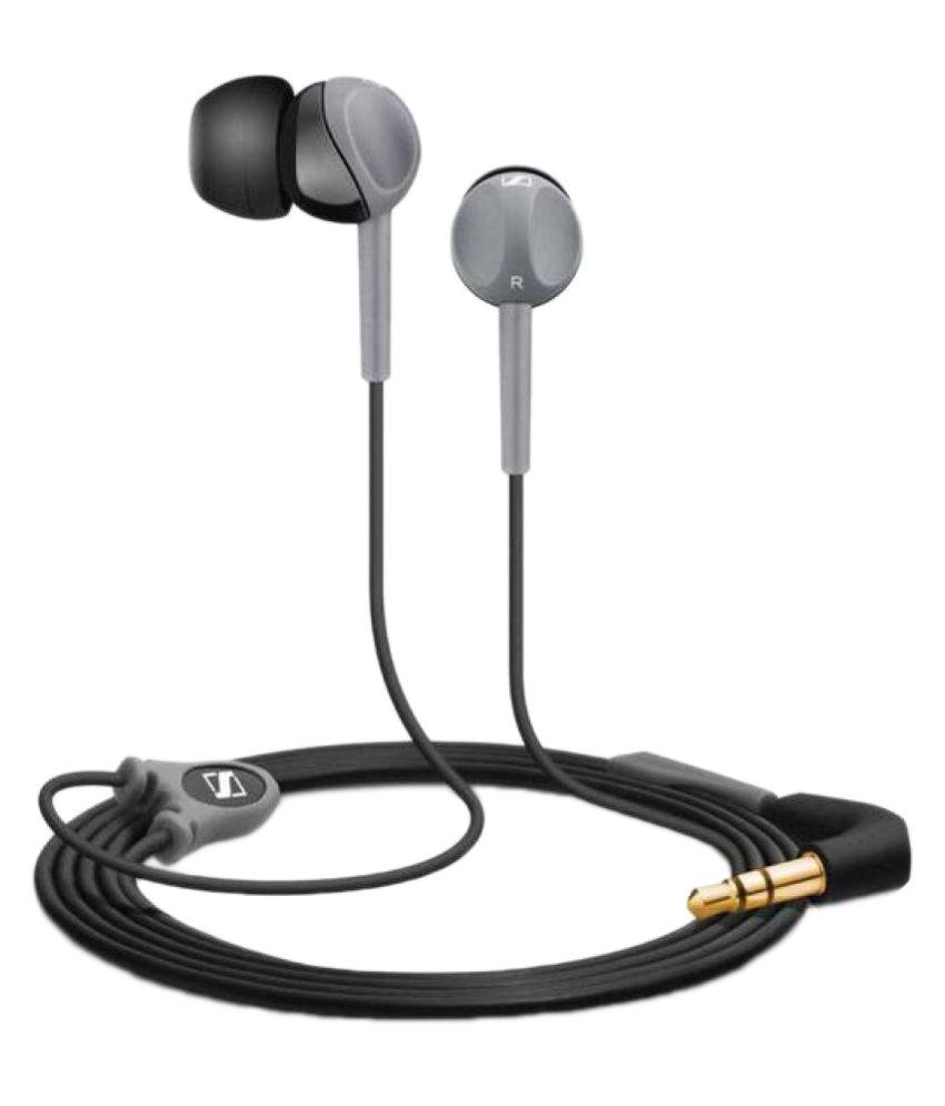 Sennheiser CX180 In Ear Wired Earphones Without Mic Grey