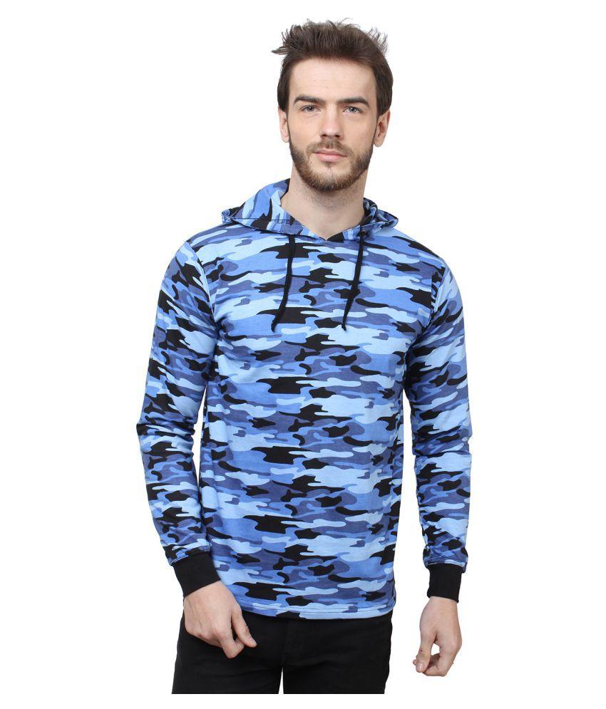SayItLoud Blue Hooded T-Shirt