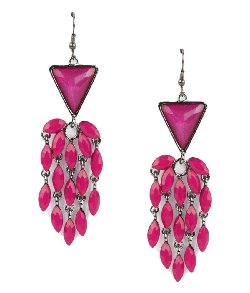 Addons Pink Hangings Earrings