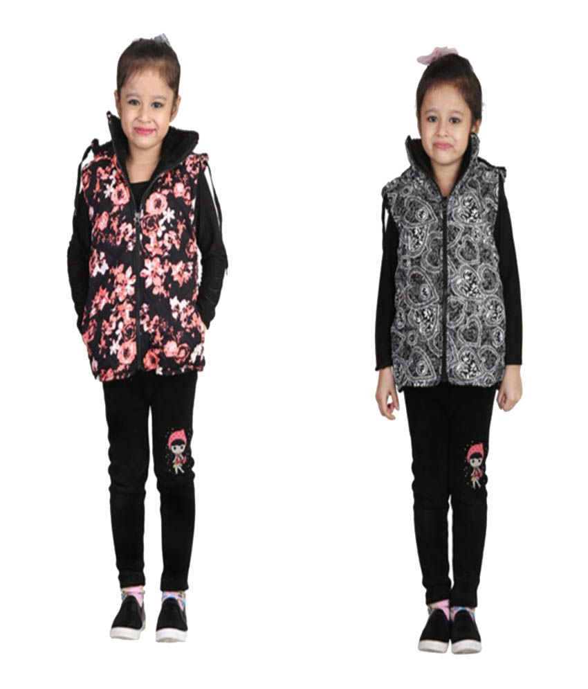 Crazies Combo Of Multicolour Jacket For Girl's