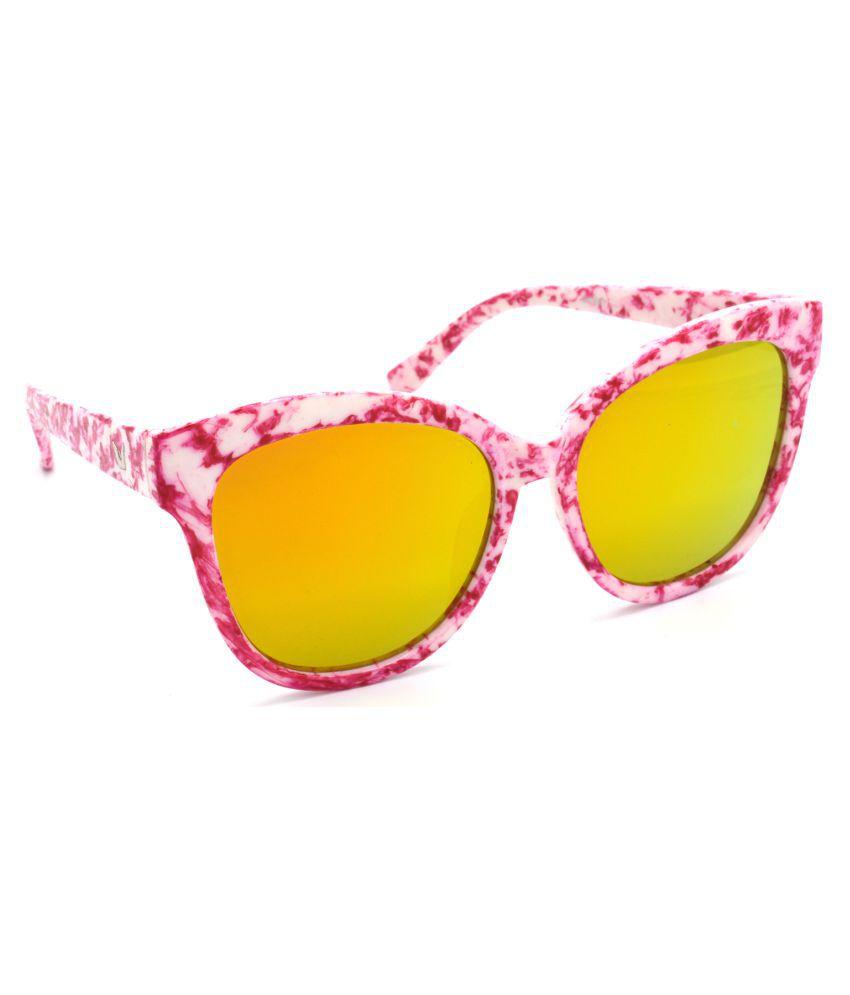 Hrinkar Golden Cat Eye Sunglasses ( HRS321-WT-GRP )