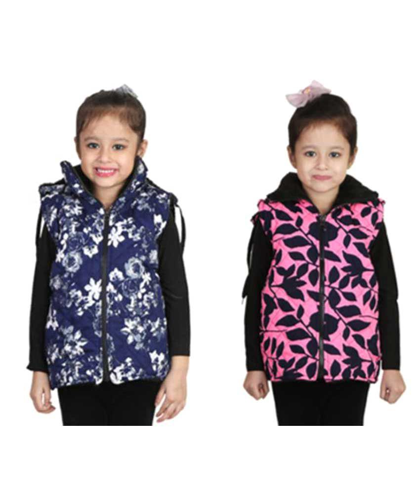 Crazies Combo Of Half Jacket For Girl's