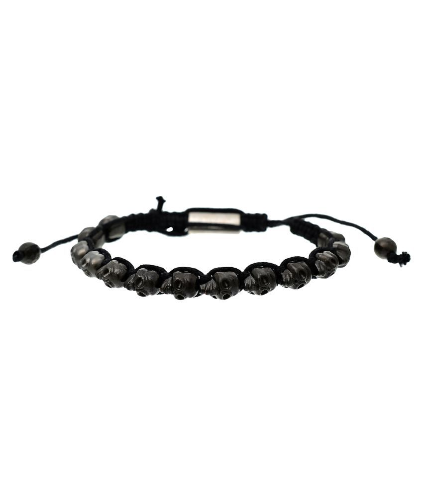 BeBold Skull Skeleton Black Stainless Steel Bracelet