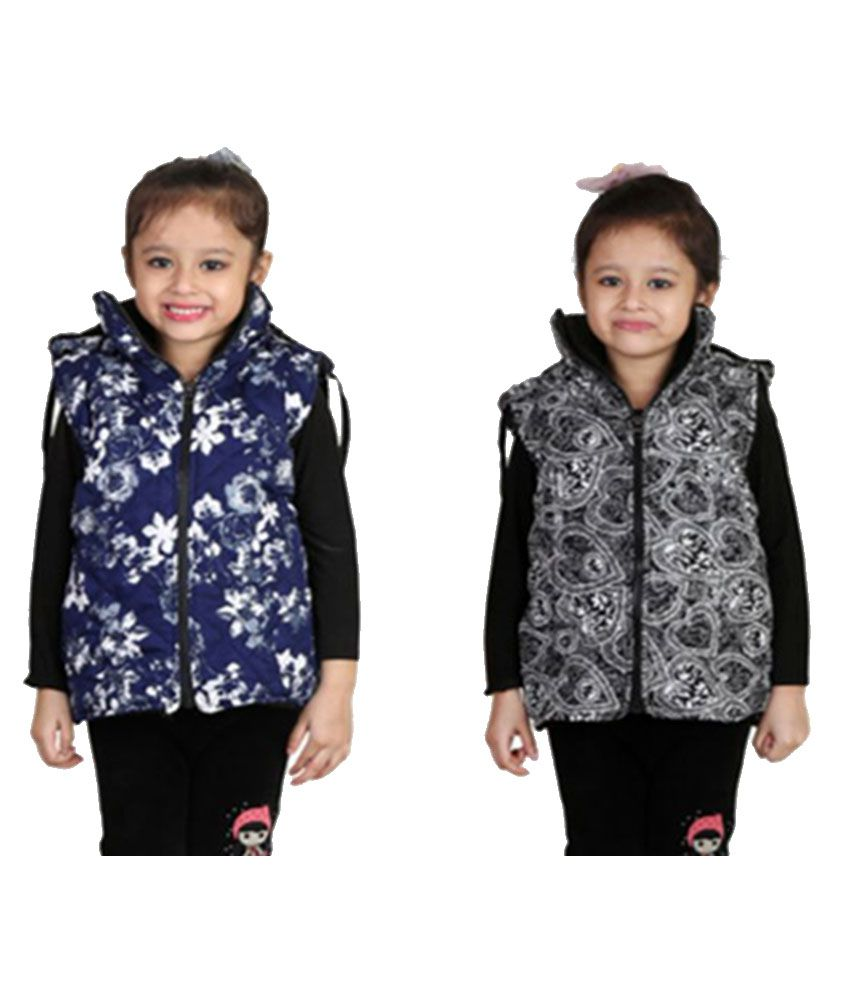 Crazeis Multicolor Nylon Light Weight Jacket - Pack of 2