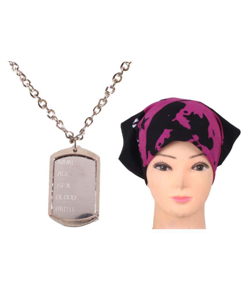 Sushito Multicolor Alloy Necklace with Headwrap