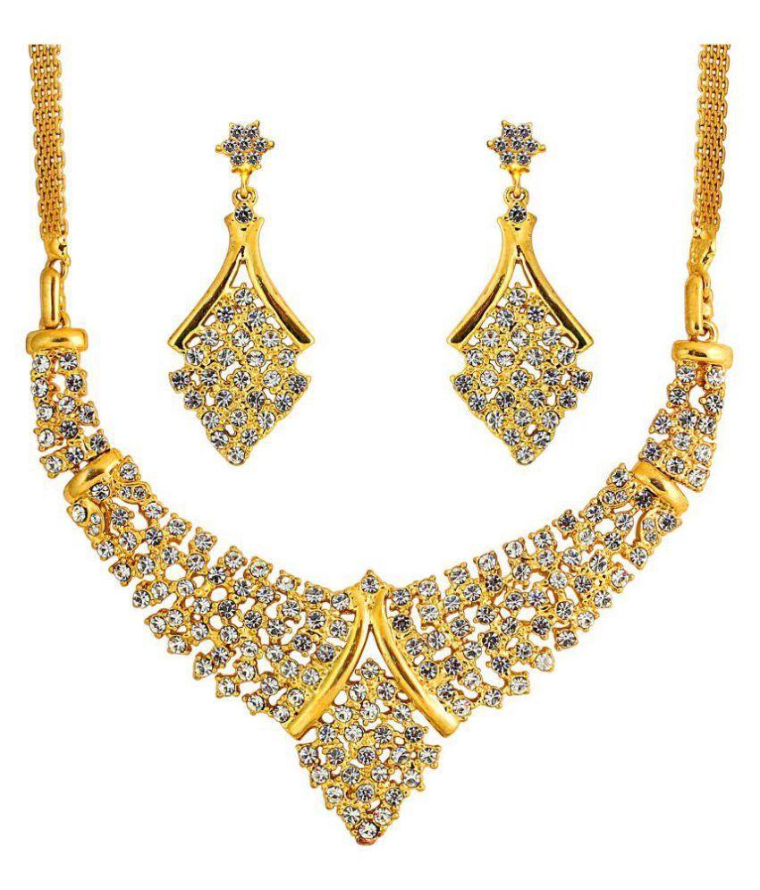Touchstone Golden Bridal Necklace Set