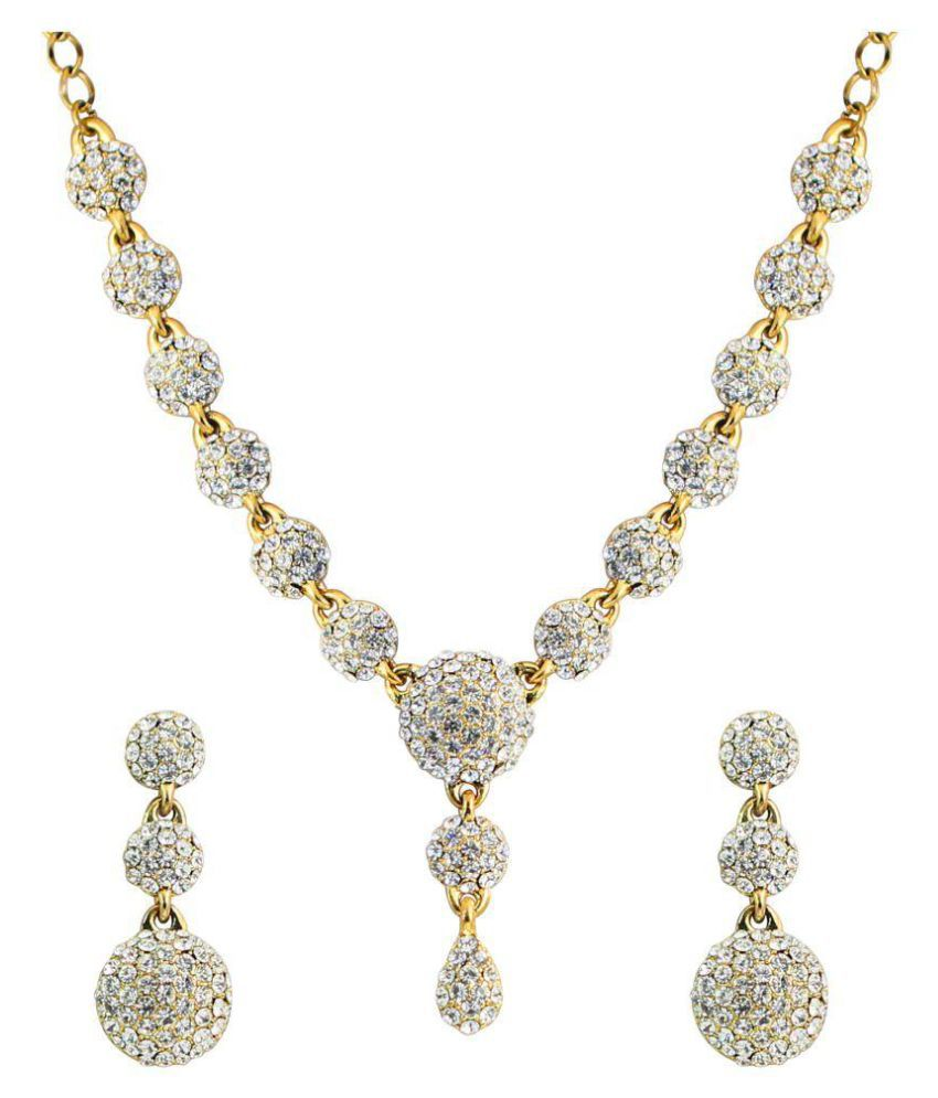 Touchstone White necklace Set