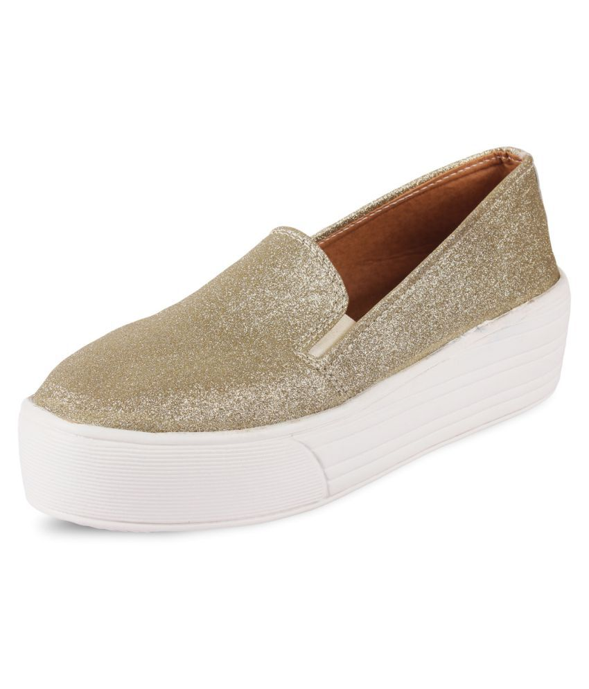 Anand Archies Gold Casual Shoes