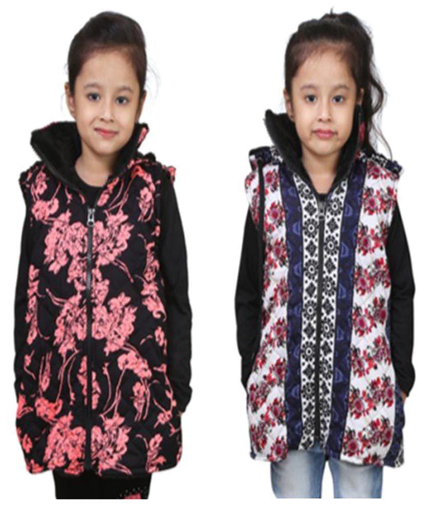 Qeboo Combo Of Half Jacket For Girls
