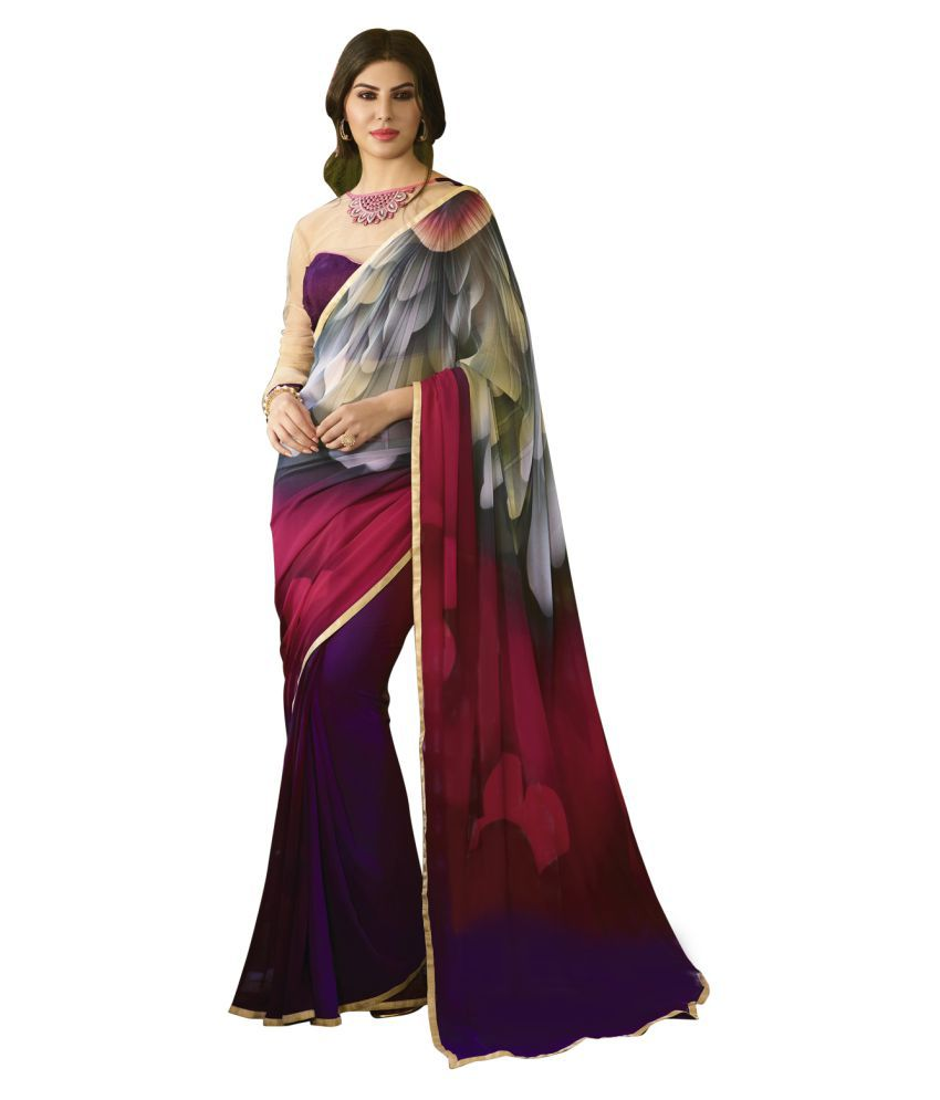 Bhoomi Multicoloured Georgette Saree