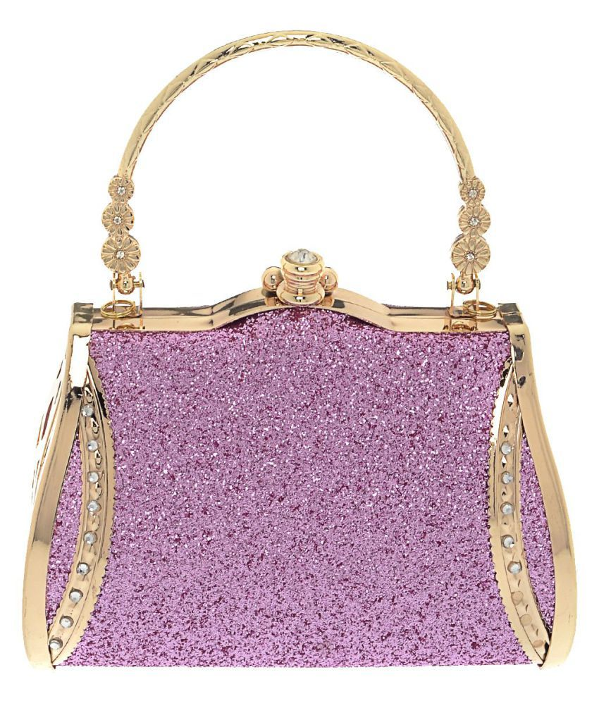 The Ethnic Wears Pink Silk Box Clutch