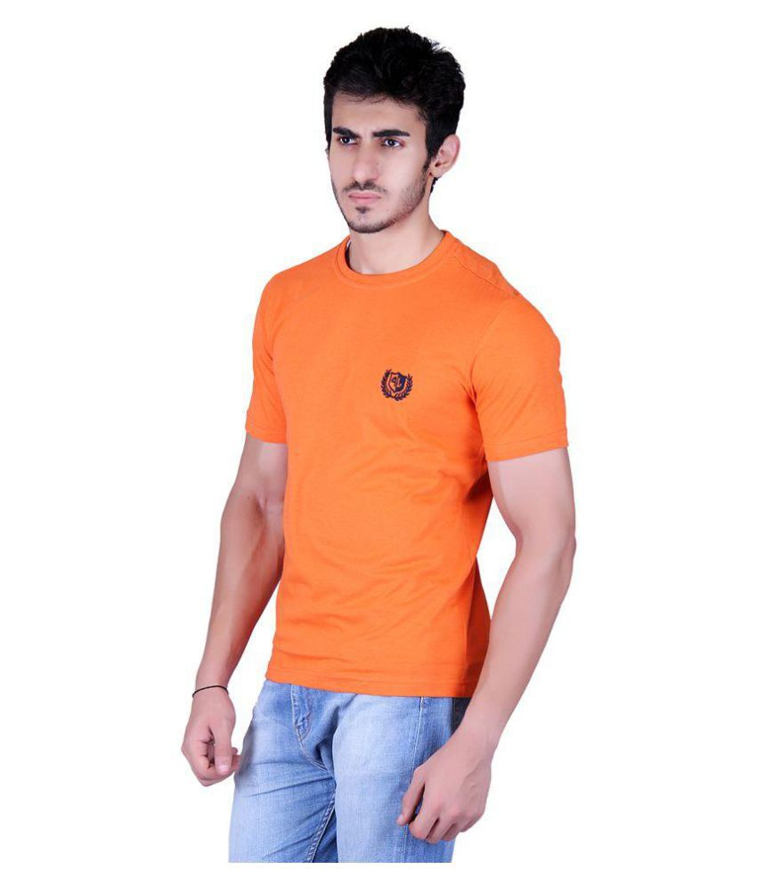 T-Sword Orange Round T-Shirt