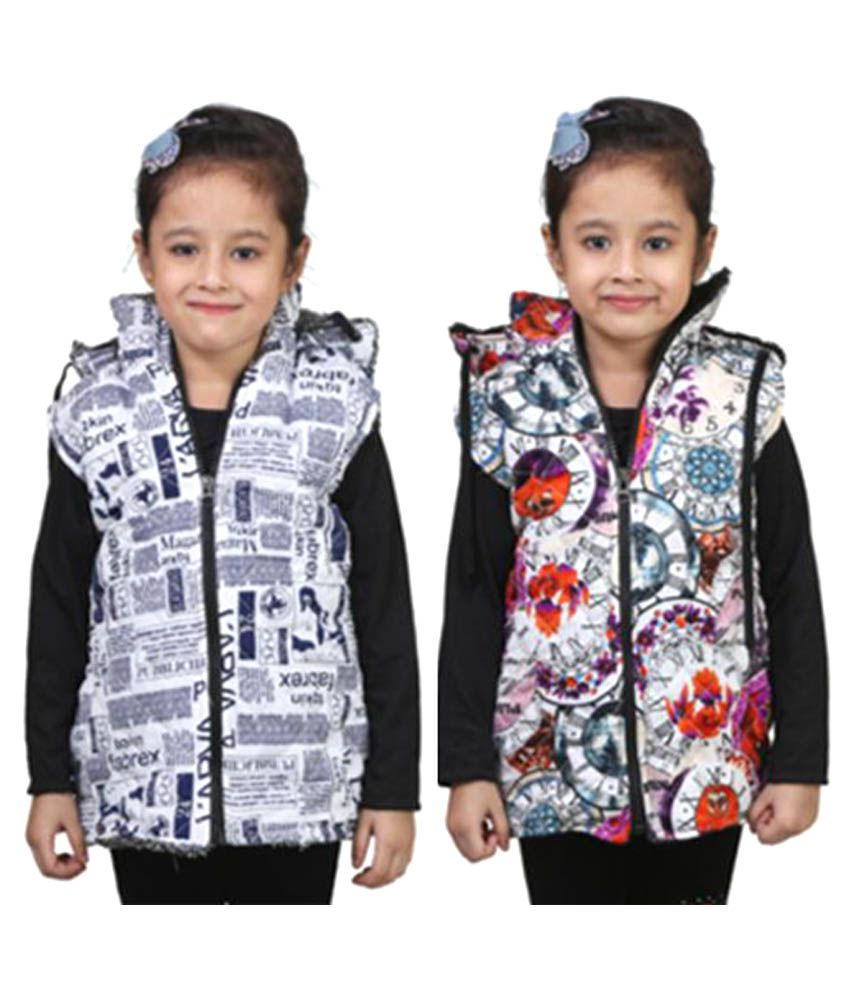 Qeboo Multicolour Light Weight Jacket for Girls