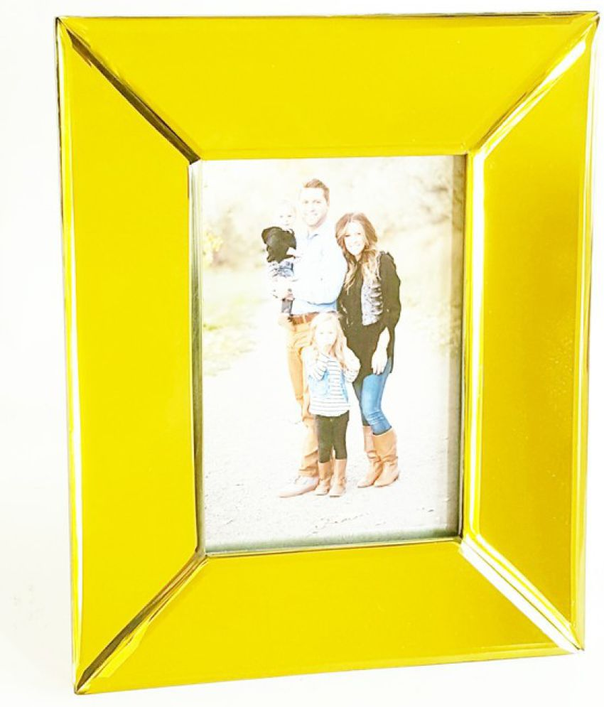 Quality Glass MDF Gold Single Photo Frame