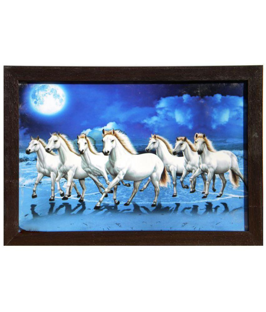 Amazing Collections Horses Acrylic Painting With Frame Single Piece