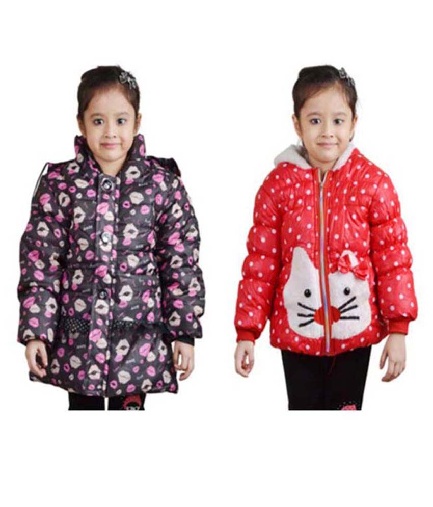 Qeboo Full Sleeves Nylon Jackets Pack of 2