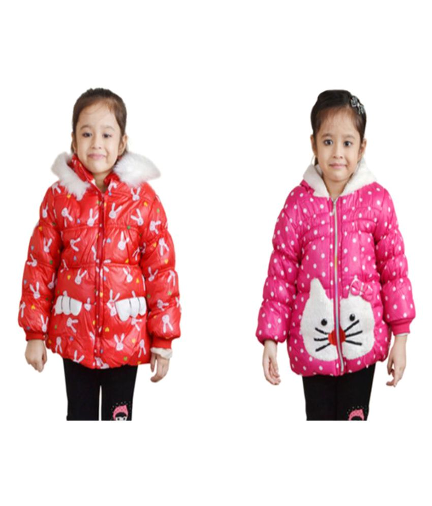 Crazeis Multicolour Quilted & Bomber Jackets - Combo of 2