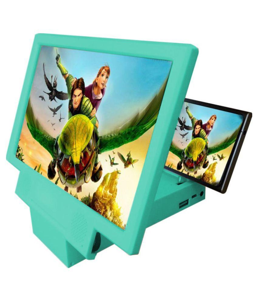 Geocell Blue 3D Screen Enlarger / Magnifier with inbuilt powerbank & speakers
