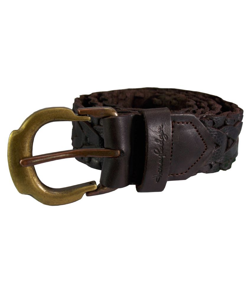 HoneyBadger Brown Leather Casual Belts