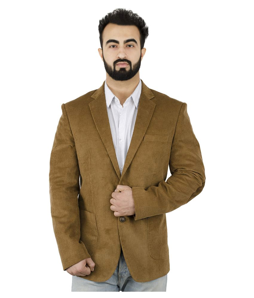 Lorenzini Designs Brown Self Design Casual Blazers