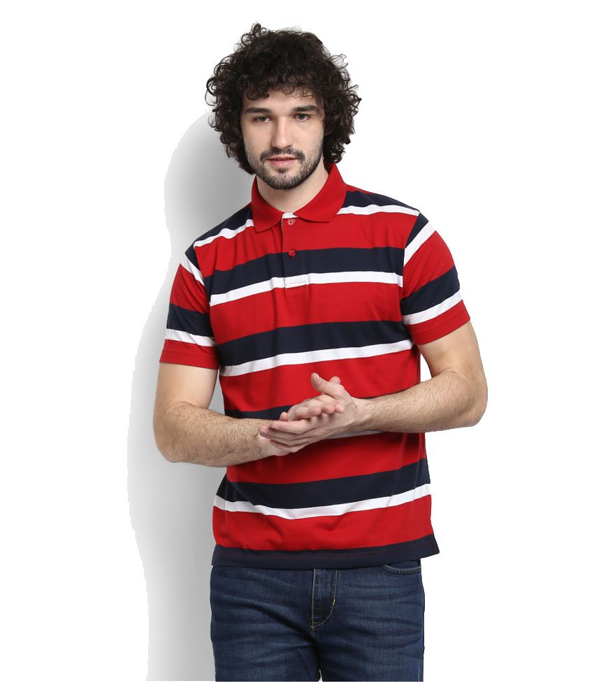 Proline Red Cotton Polo T-shirt