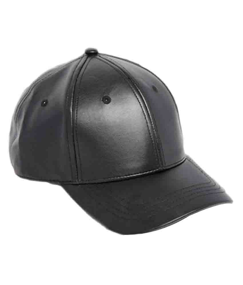 Saifpro Leather Black Baseball Caps For Men And Women  Buy Online at Low  Price in India - Snapdeal 48527616b6f