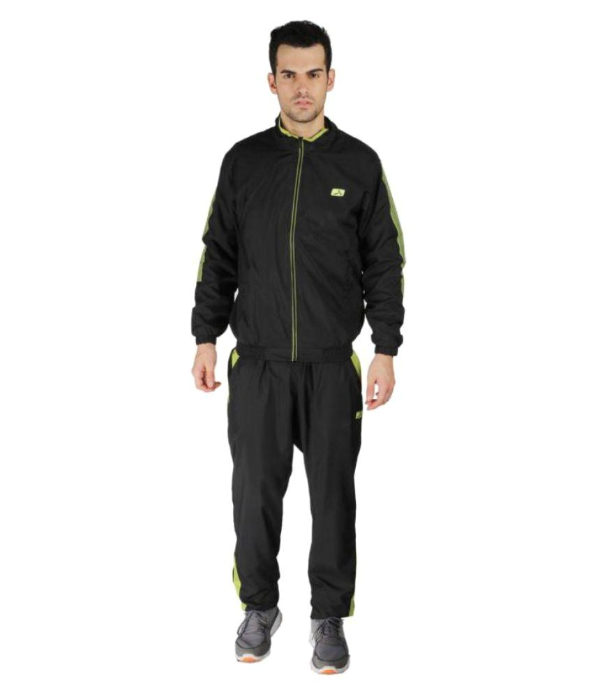 Vector X Black Polyster Track Suit
