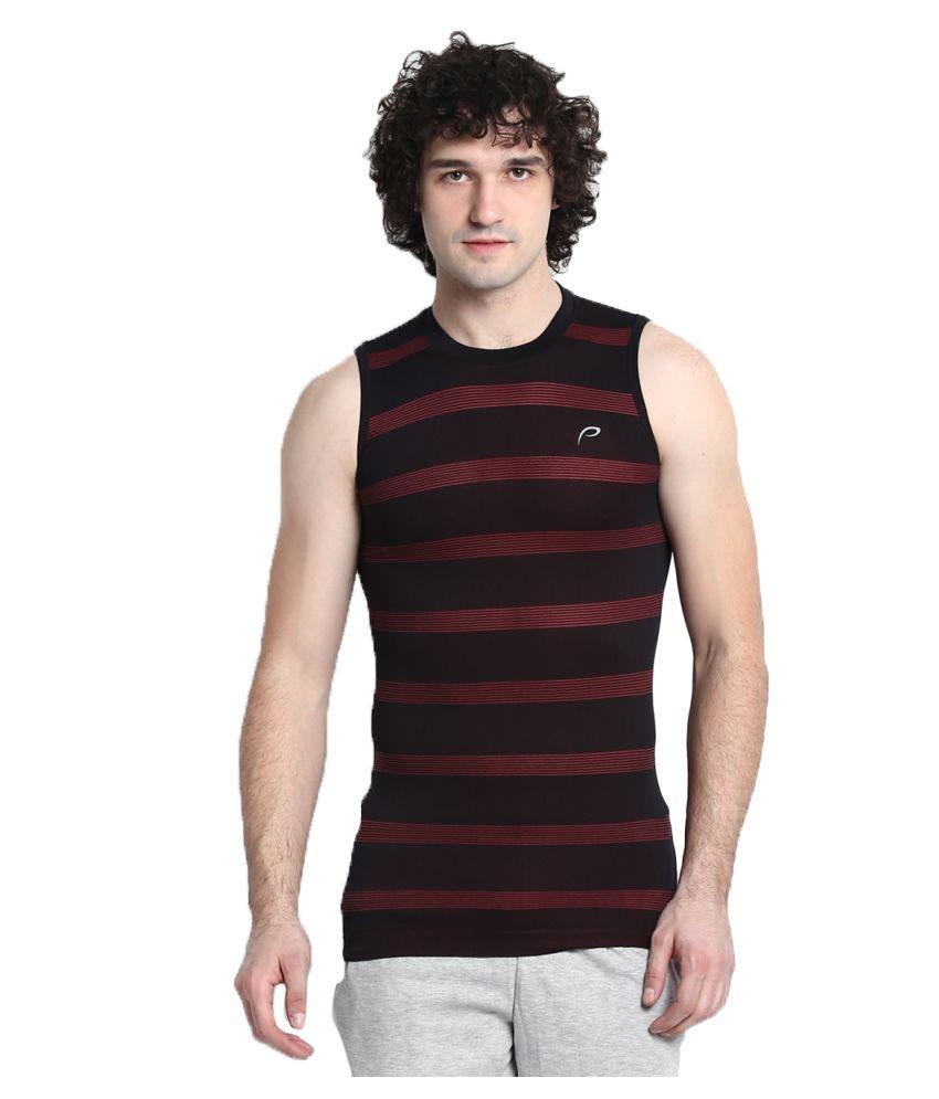 Proline Brown Cotton T Shirt