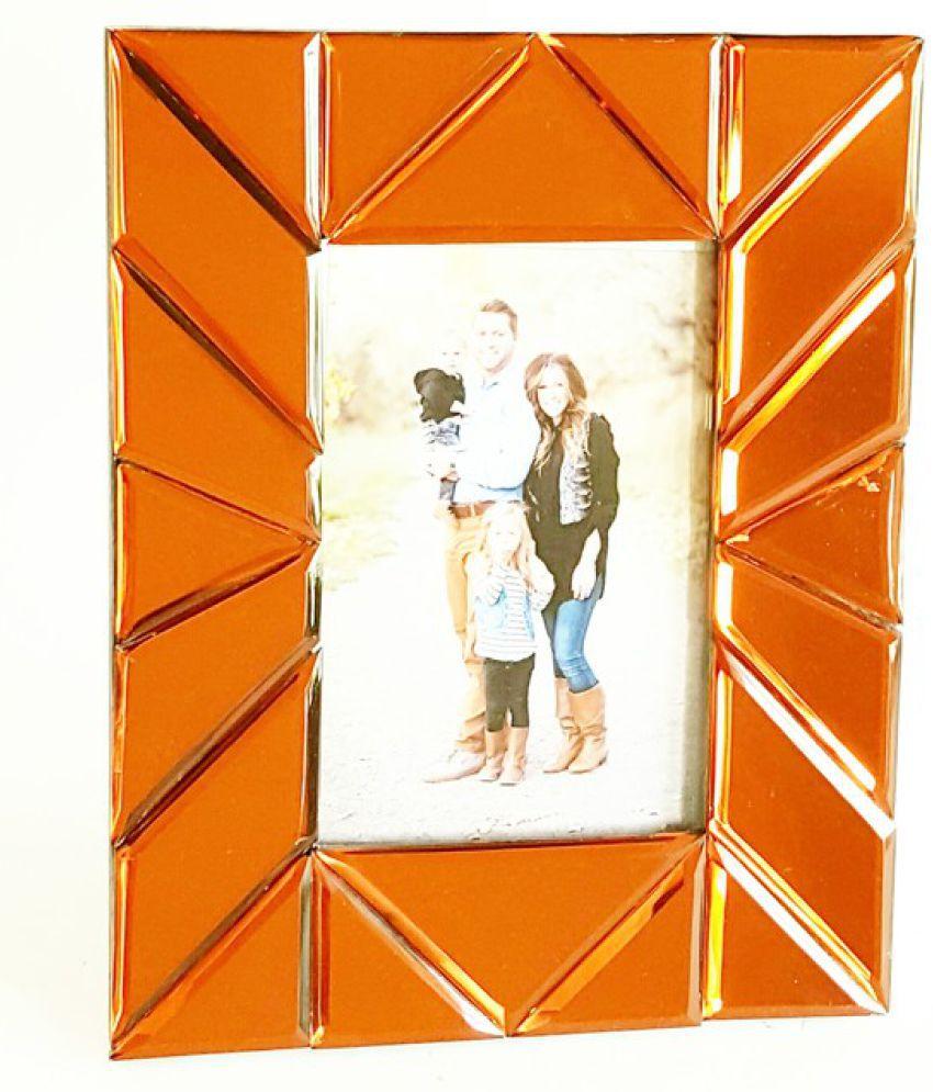 Quality Glass MDF Brown Single Photo Frame