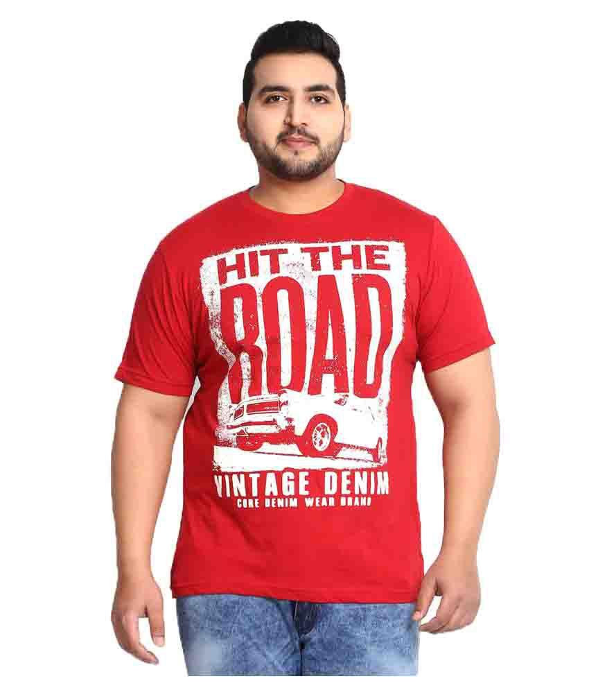 Alto Moda By Pantaloons RED ROUND T-Shirt